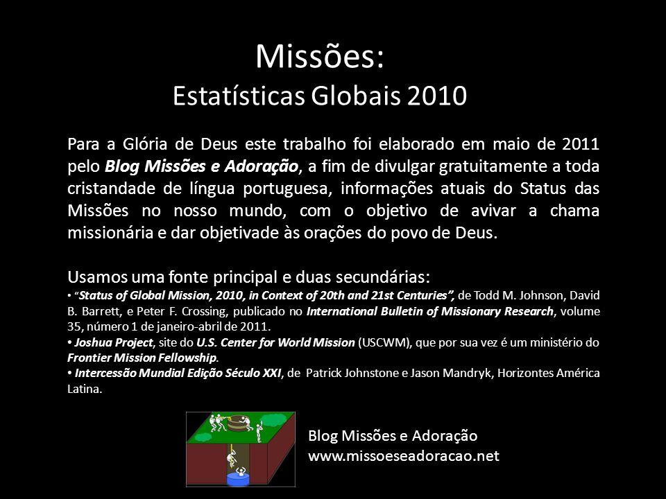 Missões: Estatísticas Globais 2010