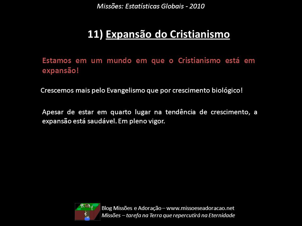 11) Expansão do Cristianismo