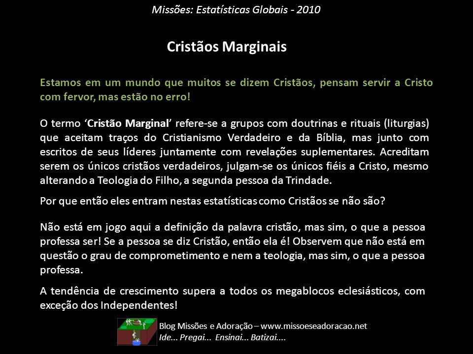Cristãos Marginais Missões: Estatísticas Globais - 2010