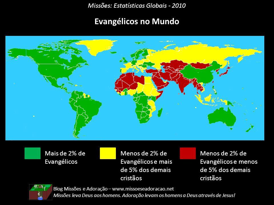 Evangélicos no Mundo Missões: Estatísticas Globais - 2010