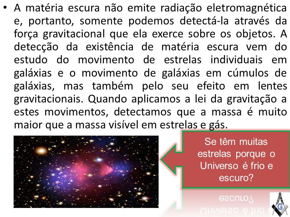 Se têm muitas estrelas porque o Universo é frio e escuro