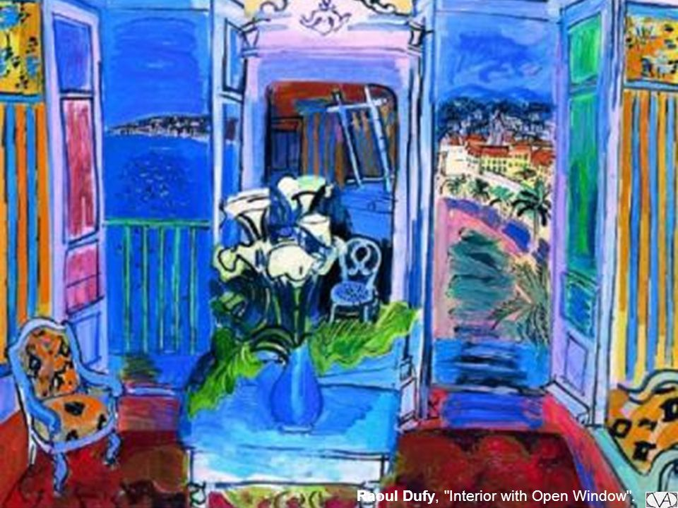 Raoul Dufy, Interior with Open Window .