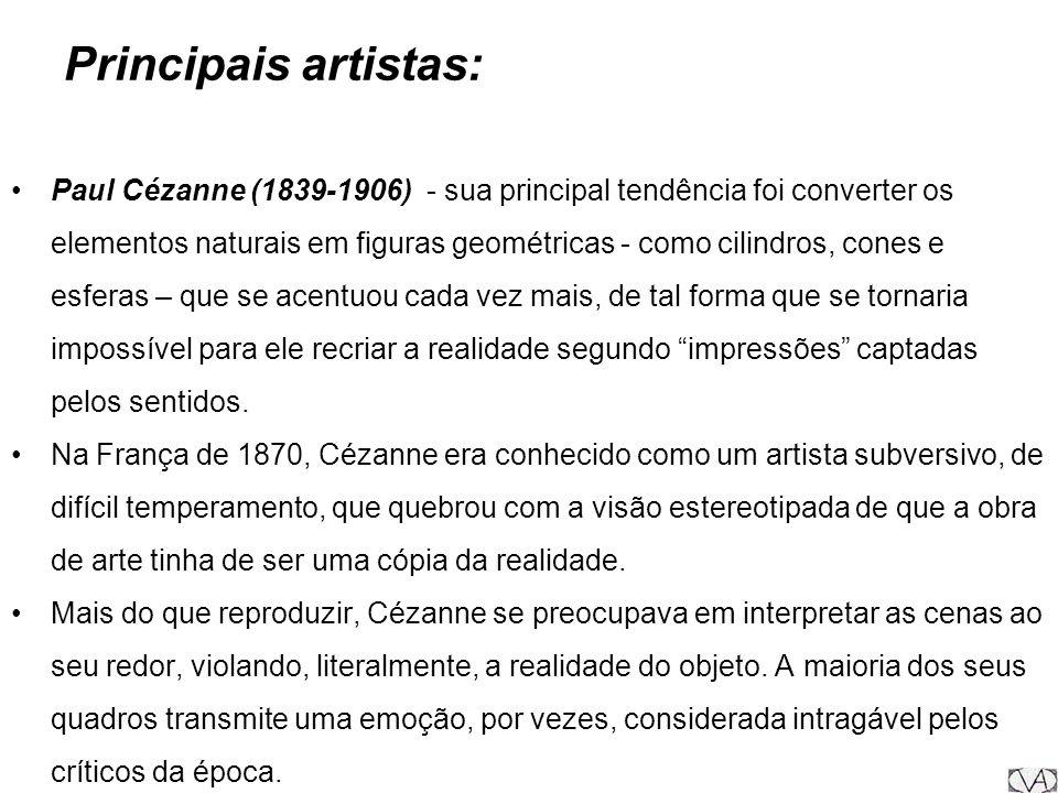Principais artistas: