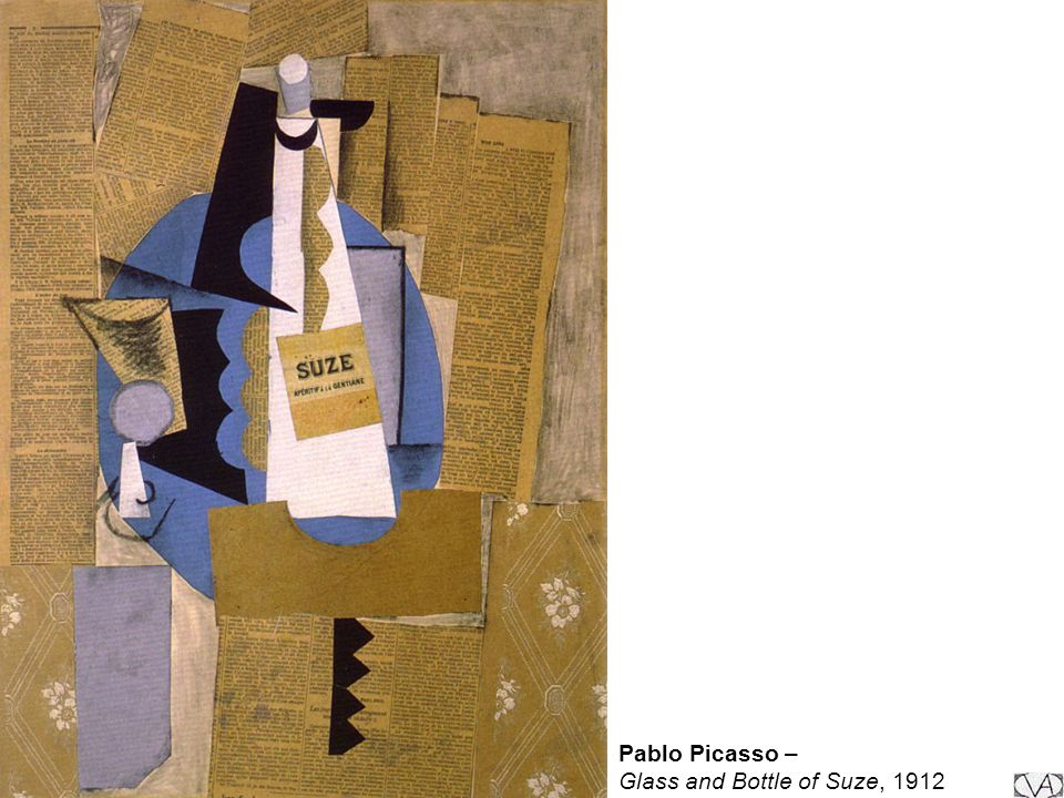 Pablo Picasso – Glass and Bottle of Suze, 1912