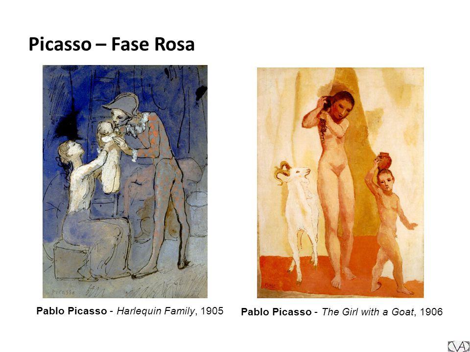 Picasso – Fase Rosa Pablo Picasso - Harlequin Family, 1905