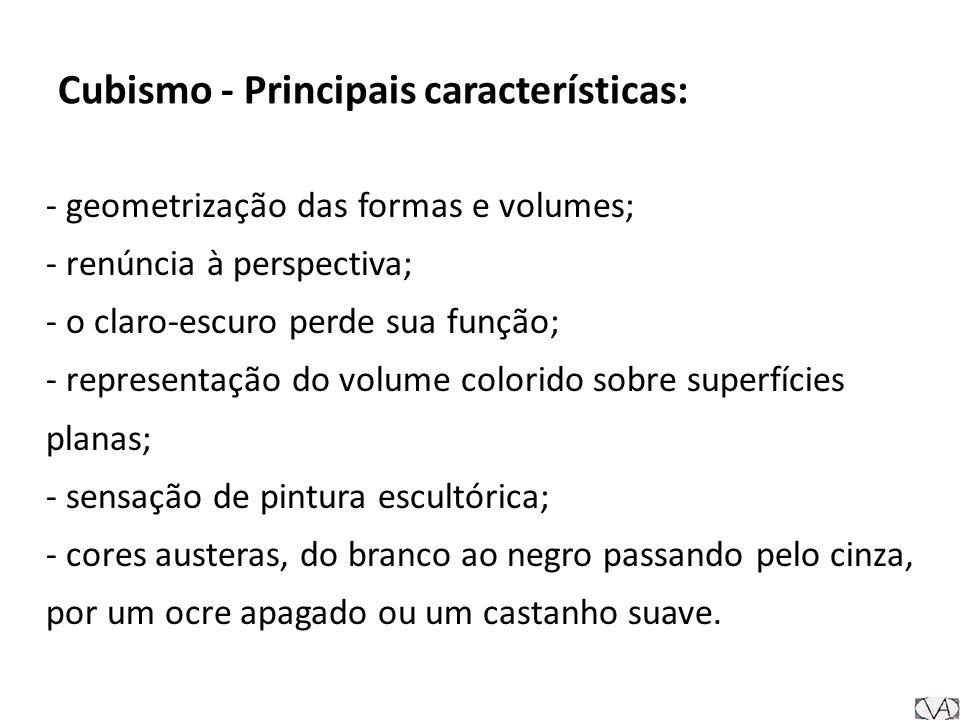 Cubismo - Principais características: