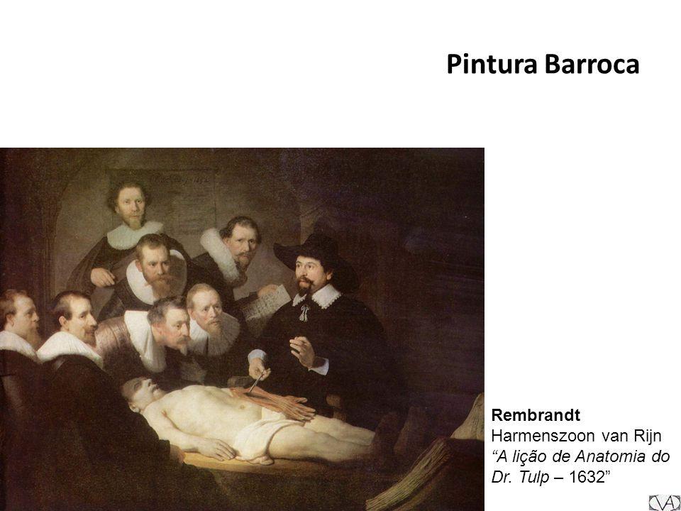 Pintura Barroca Rembrandt Harmenszoon van Rijn A lição de Anatomia do Dr. Tulp – 1632