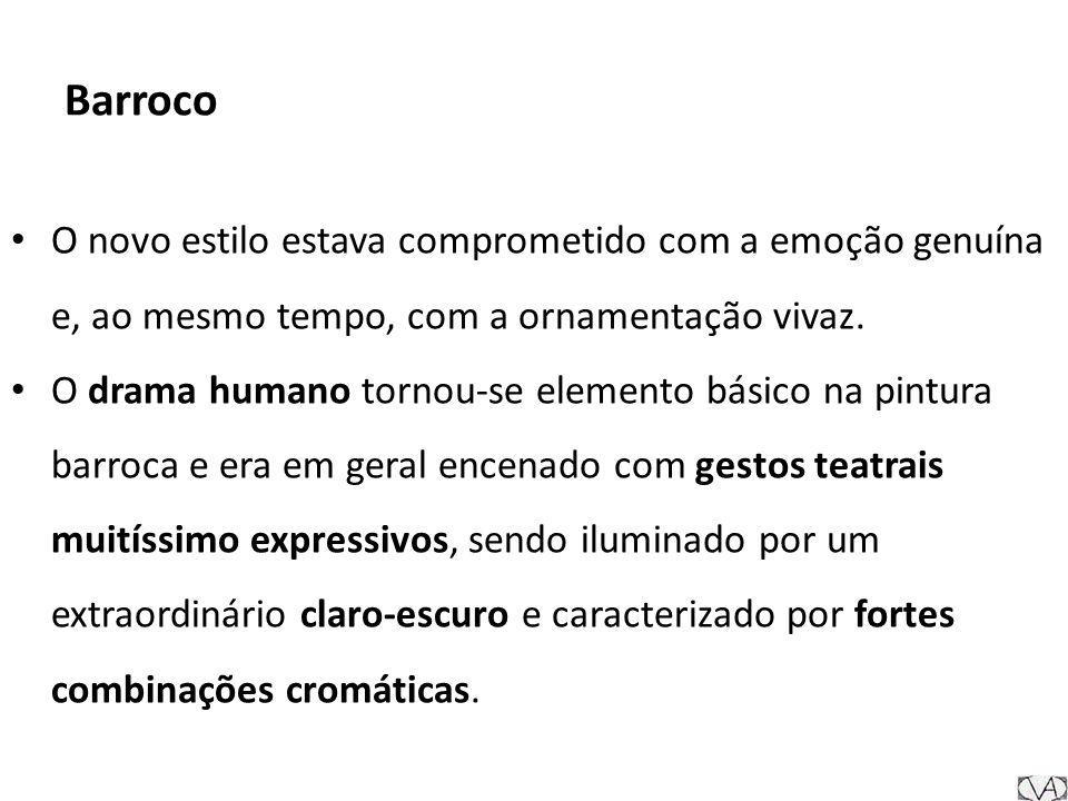 Barroco O novo estilo estava comprometido com a emoção genuína e, ao mesmo tempo, com a ornamentação vivaz.