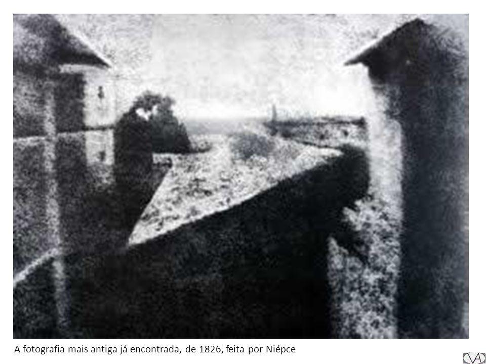 A fotografia mais antiga já encontrada, de 1826, feita por Niépce