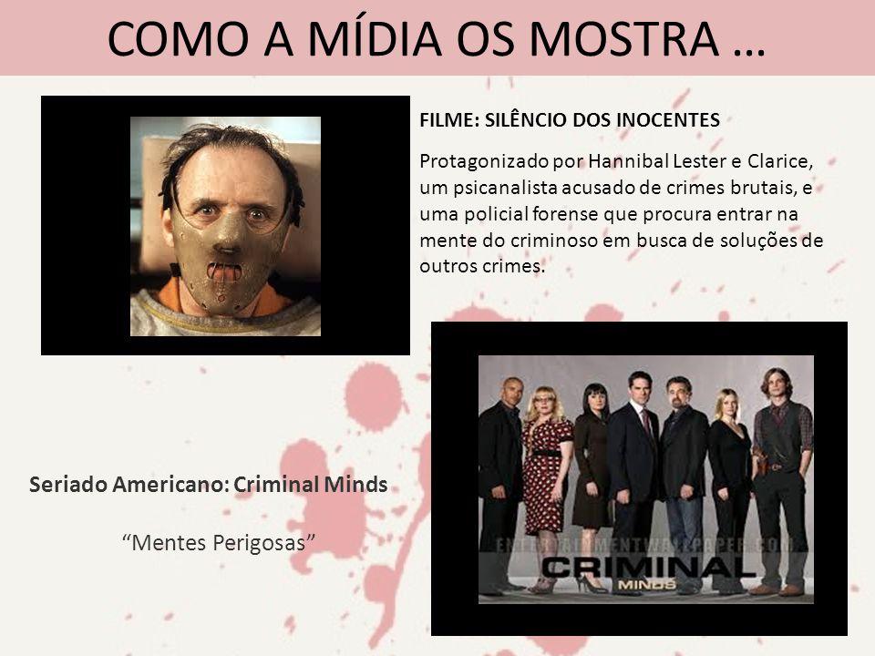 COMO A MÍDIA OS MOSTRA … Seriado Americano: Criminal Minds