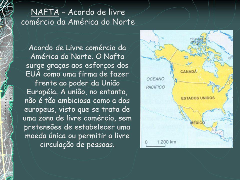 NAFTA – Acordo de livre comércio da América do Norte