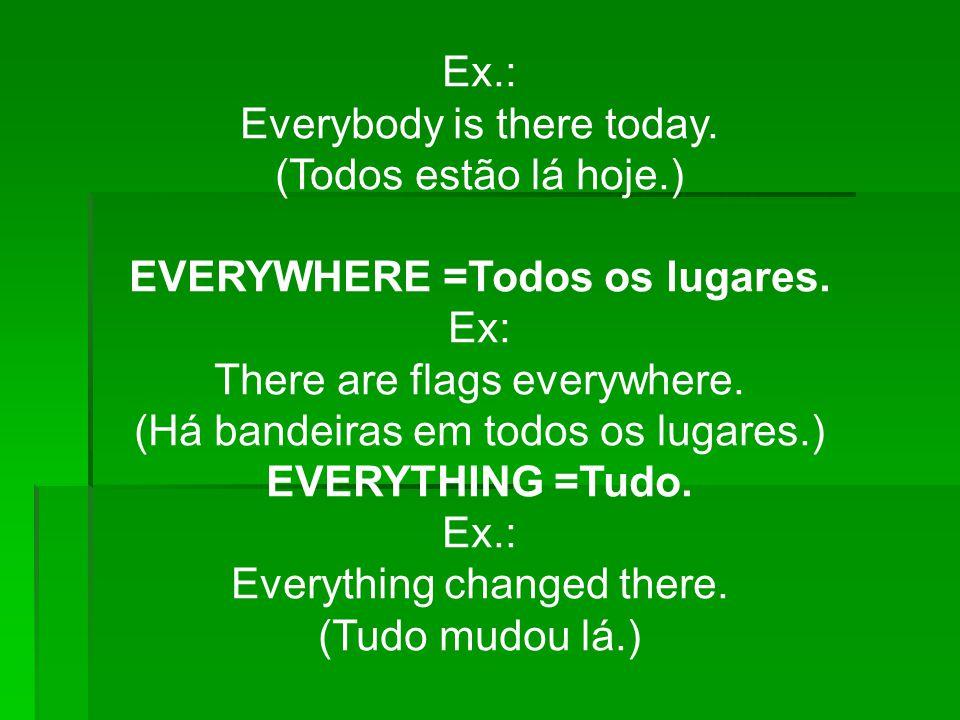 Everybody is there today. (Todos estão lá hoje.)