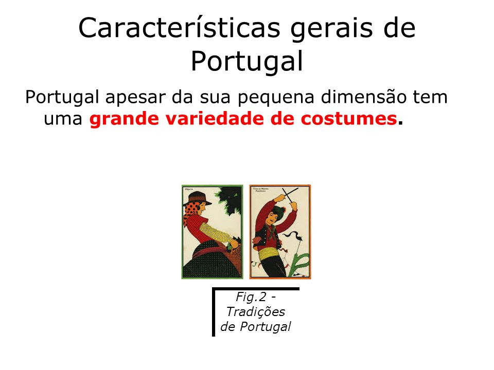 Características gerais de Portugal