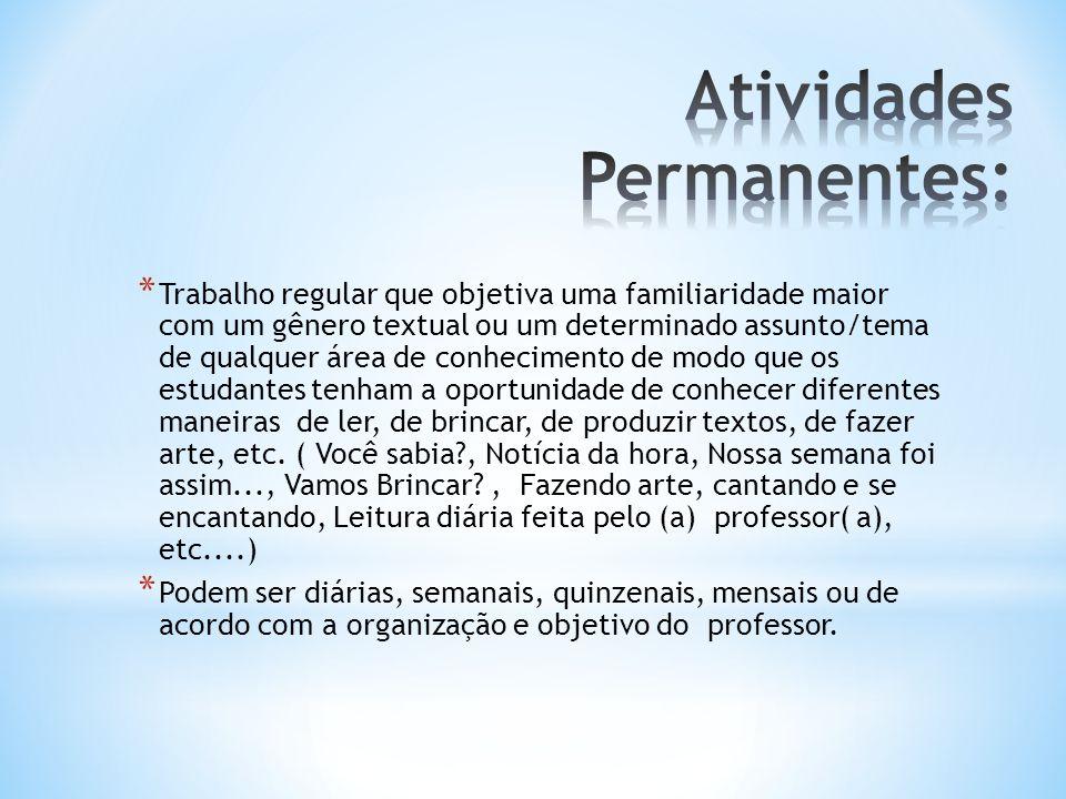 Atividades Permanentes: