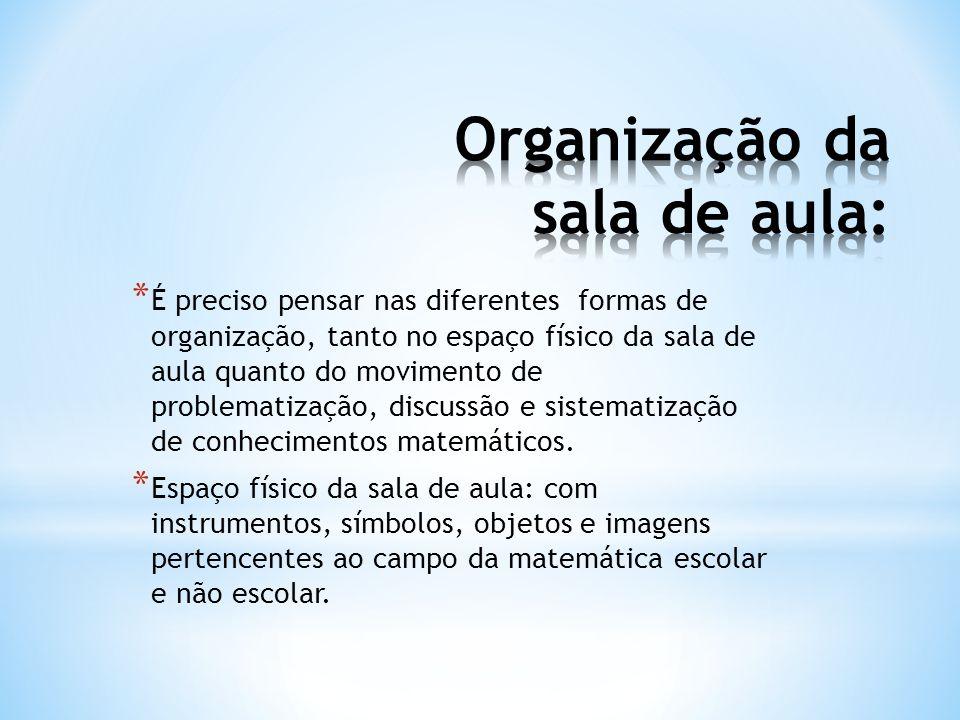 Organização da sala de aula: