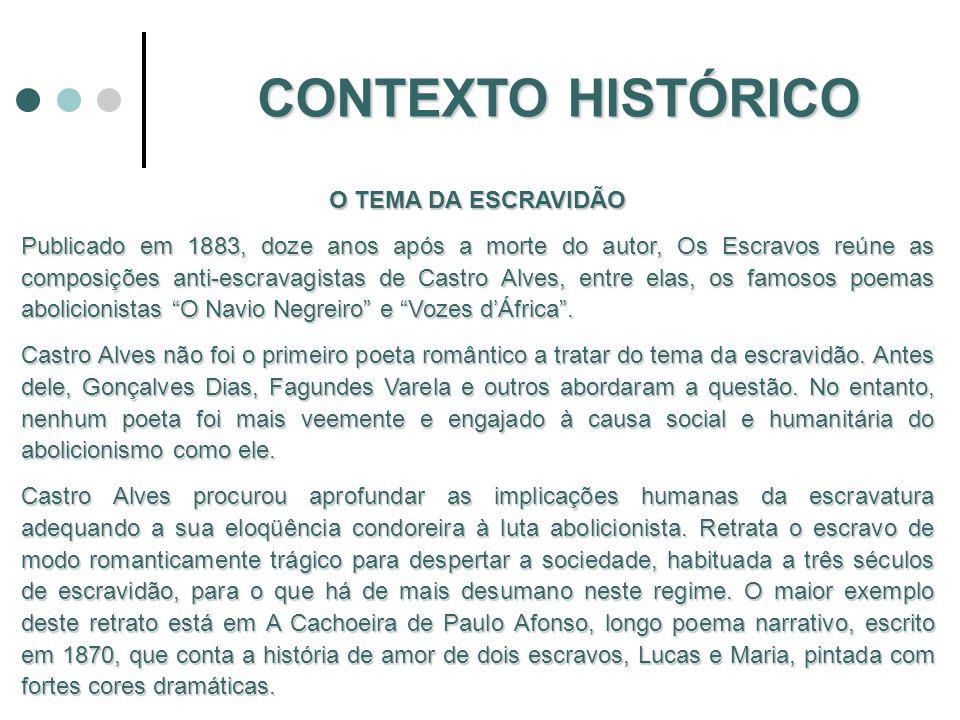 CONTEXTO HISTÓRICO O TEMA DA ESCRAVIDÃO