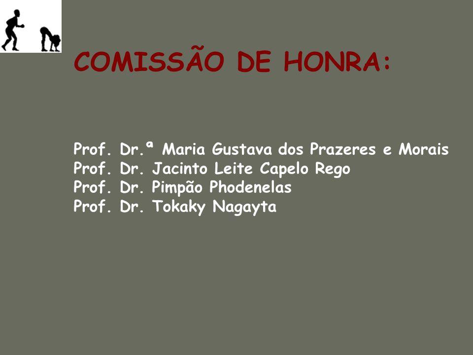 COMISSÃO DE HONRA: Prof. Dr.ª Maria Gustava dos Prazeres e Morais