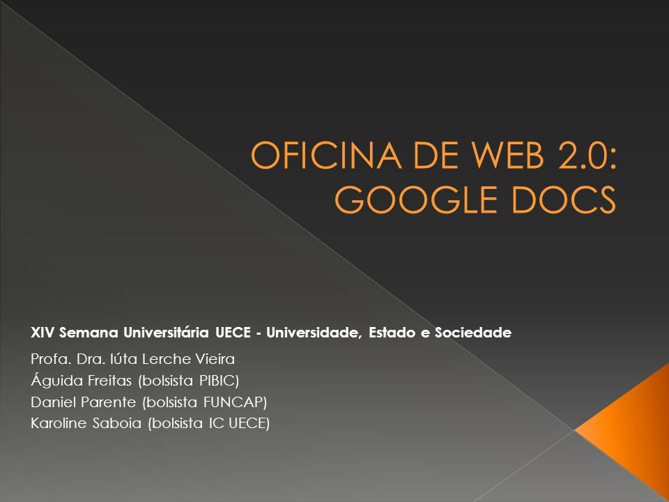 OFICINA DE WEB 2.0: GOOGLE DOCS