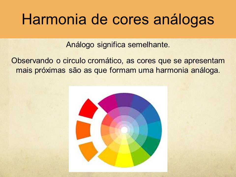 Harmonia de cores análogas