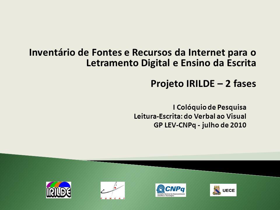 Inventário de Fontes e Recursos da Internet para o Letramento Digital e Ensino da Escrita