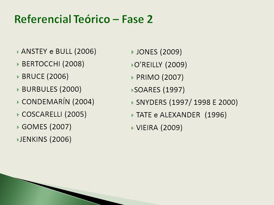 Referencial Teórico – Fase 2