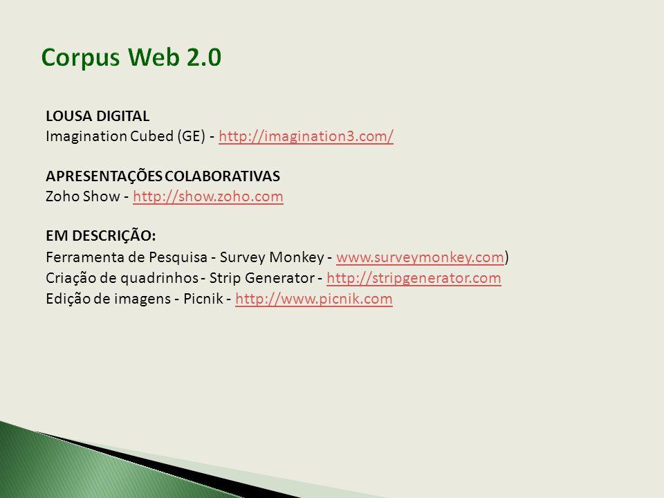 Corpus Web 2.0 LOUSA DIGITAL