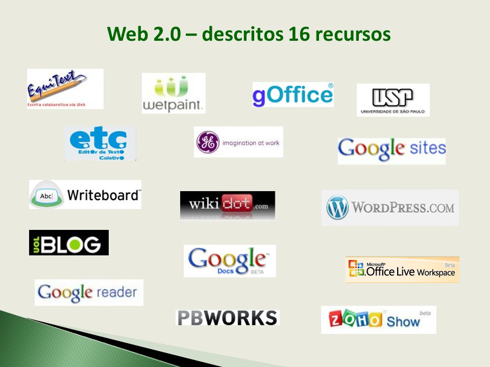 Web 2.0 – descritos 16 recursos