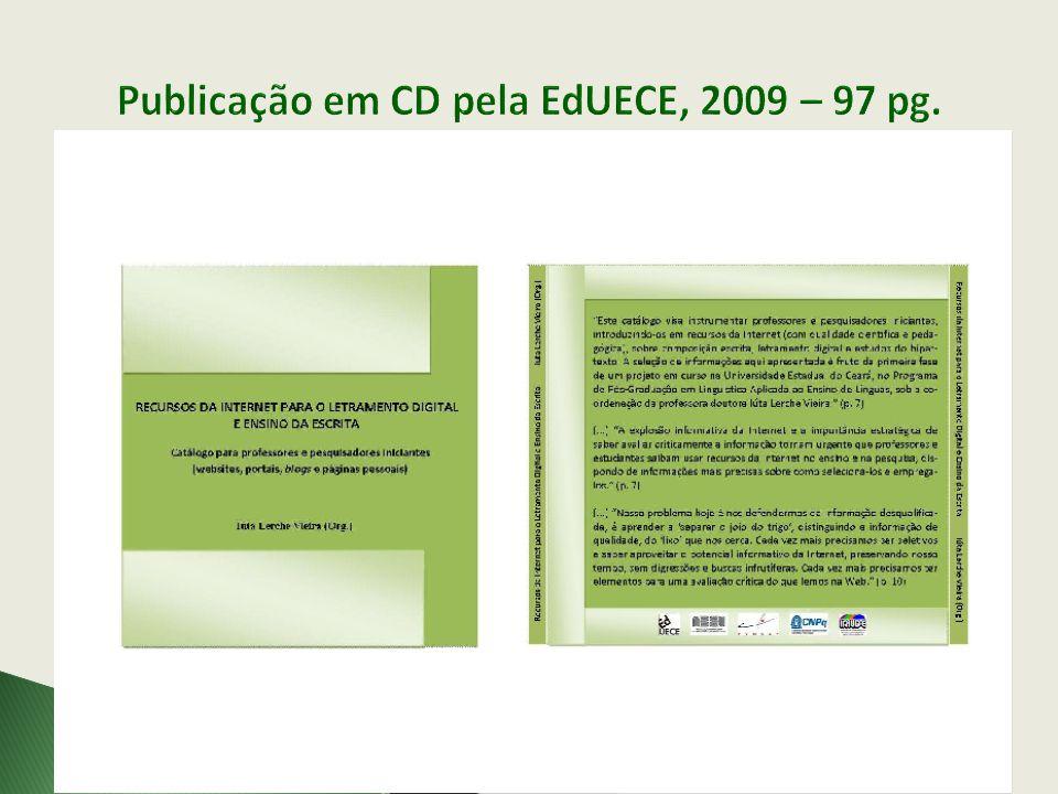 Publicação em CD pela EdUECE, 2009 – 97 pg.