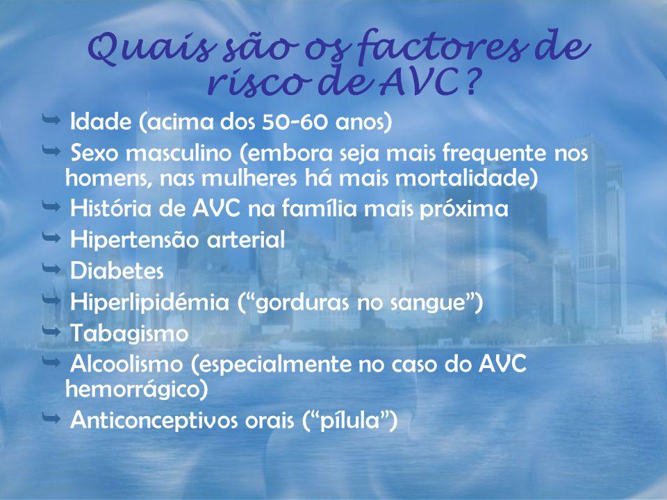 Quais são os factores de risco de AVC
