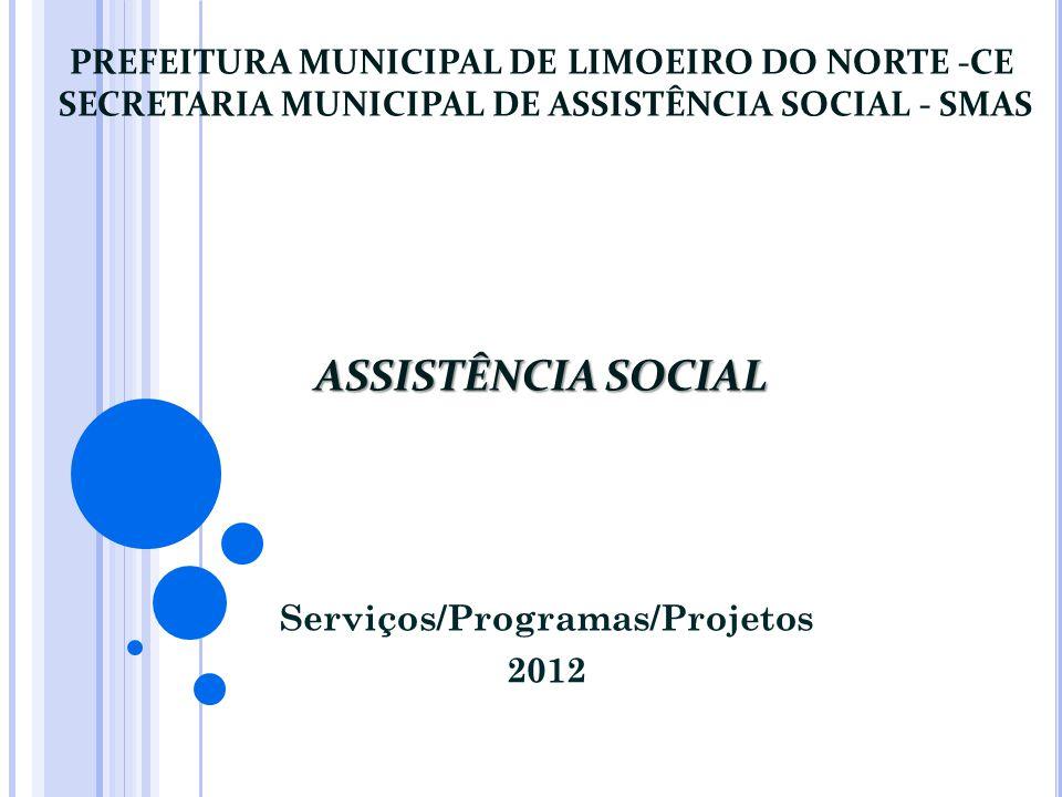 Serviços/Programas/Projetos 2012