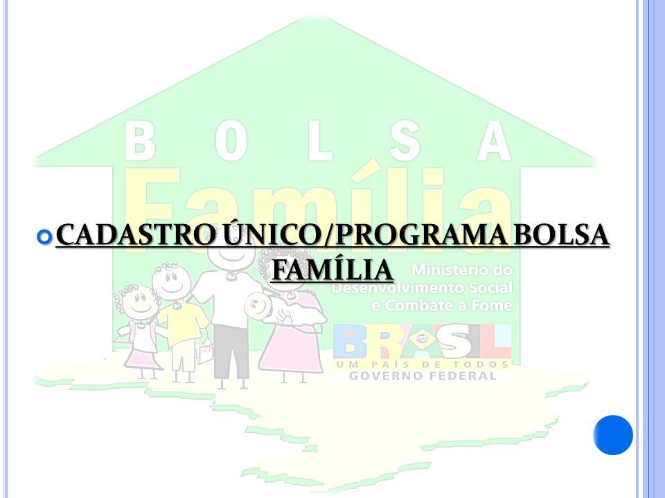 CADASTRO ÚNICO/PROGRAMA BOLSA FAMÍLIA