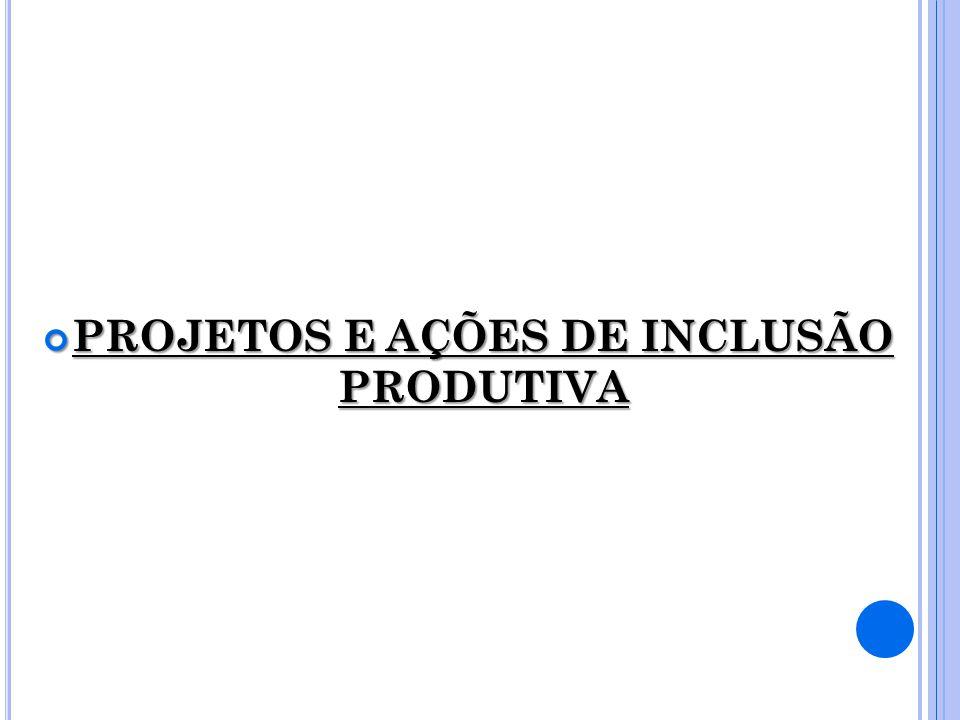 PROJETOS E AÇÕES DE INCLUSÃO PRODUTIVA