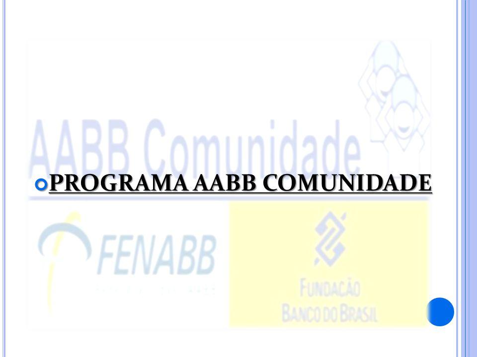PROGRAMA AABB COMUNIDADE