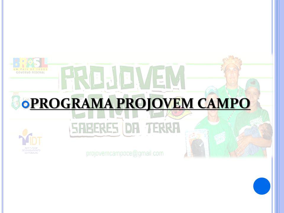 PROGRAMA PROJOVEM CAMPO