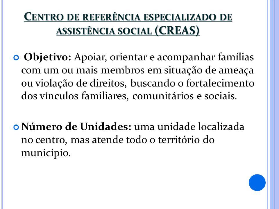 Centro de referência especializado de assistência social (CREAS)