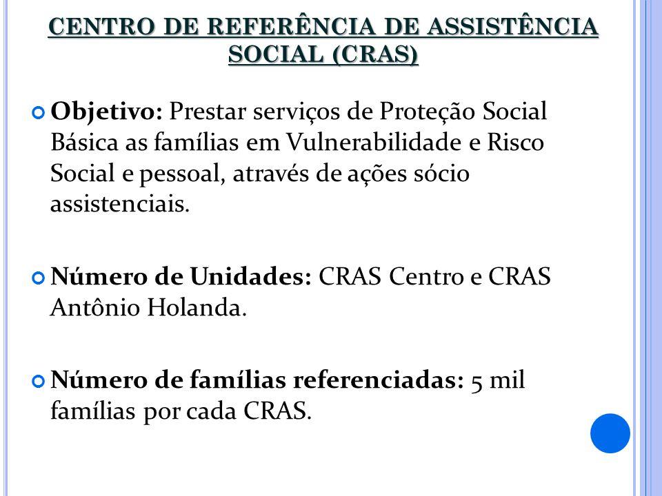CENTRO DE REFERÊNCIA DE ASSISTÊNCIA SOCIAL (CRAS)