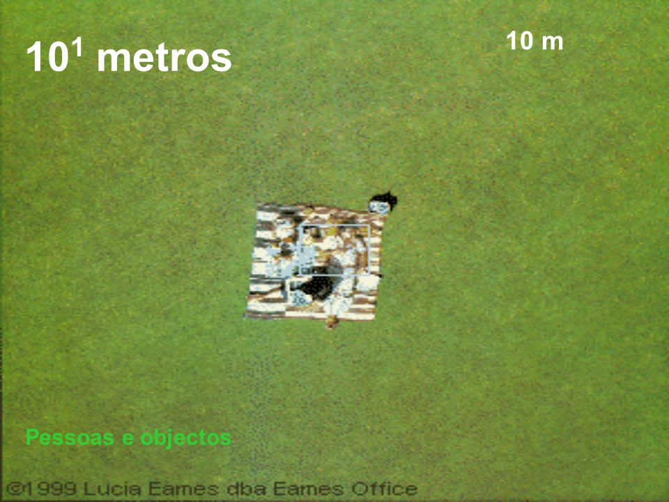 101 metros 10 m Pessoas e objectos
