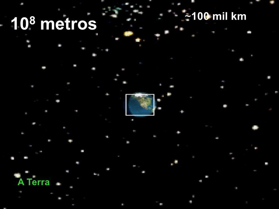 108 metros ~100 mil km A Terra