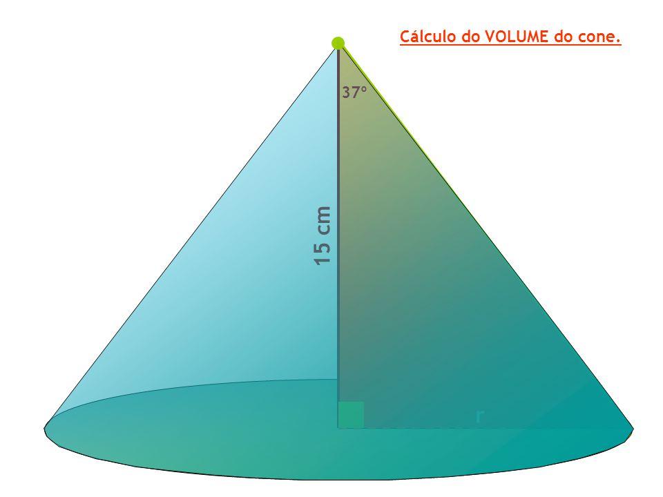 Cálculo do VOLUME do cone.