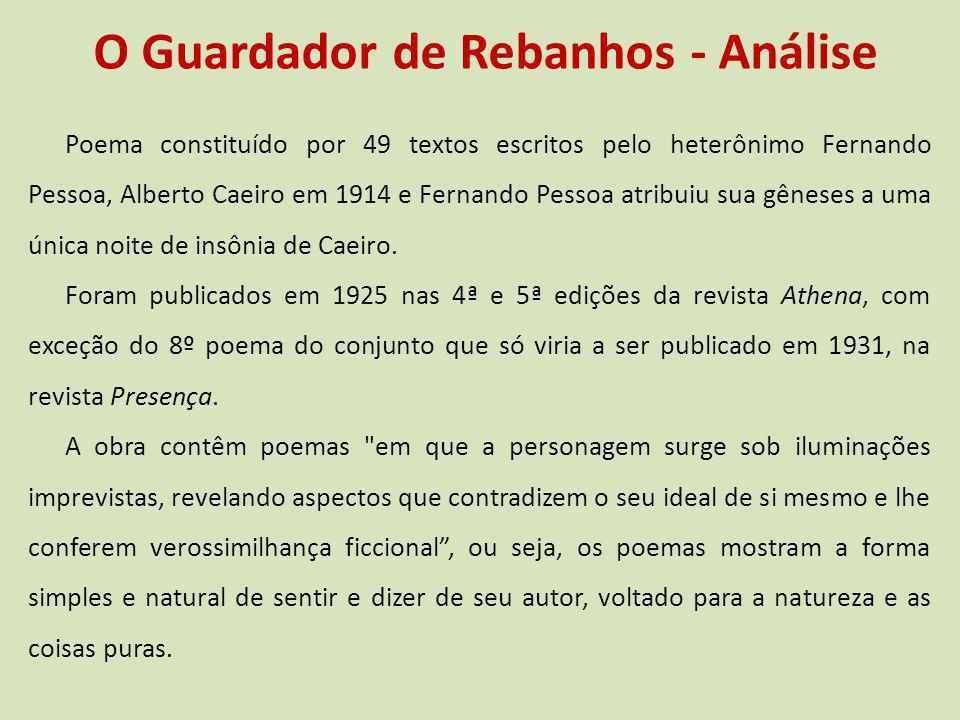 O Guardador de Rebanhos - Análise