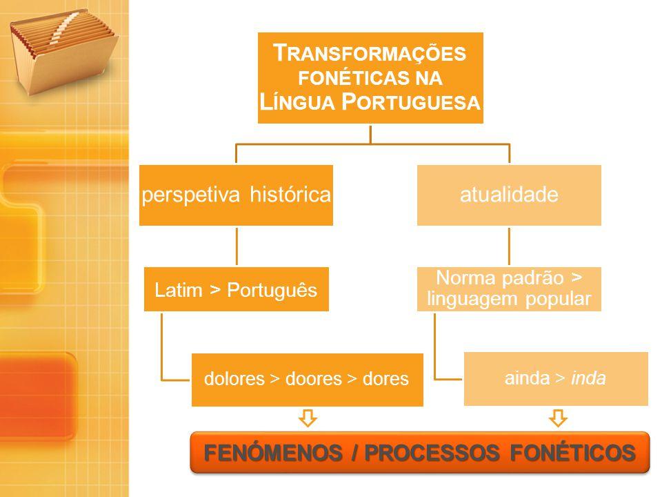 Transformações fonéticas na Língua Portuguesa