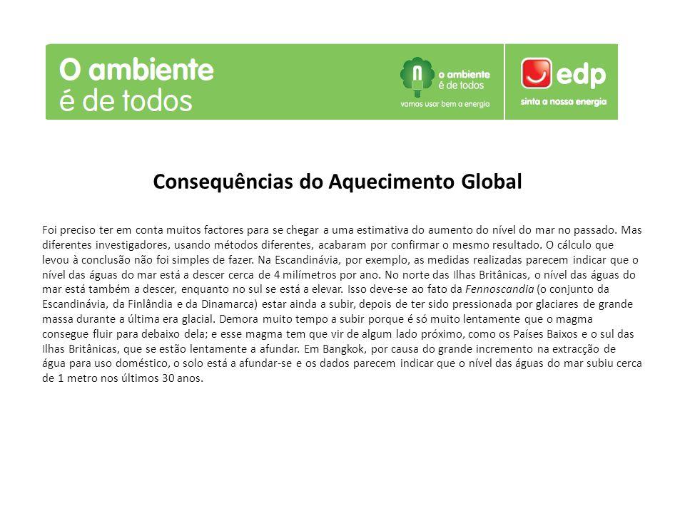 Consequências do Aquecimento Global