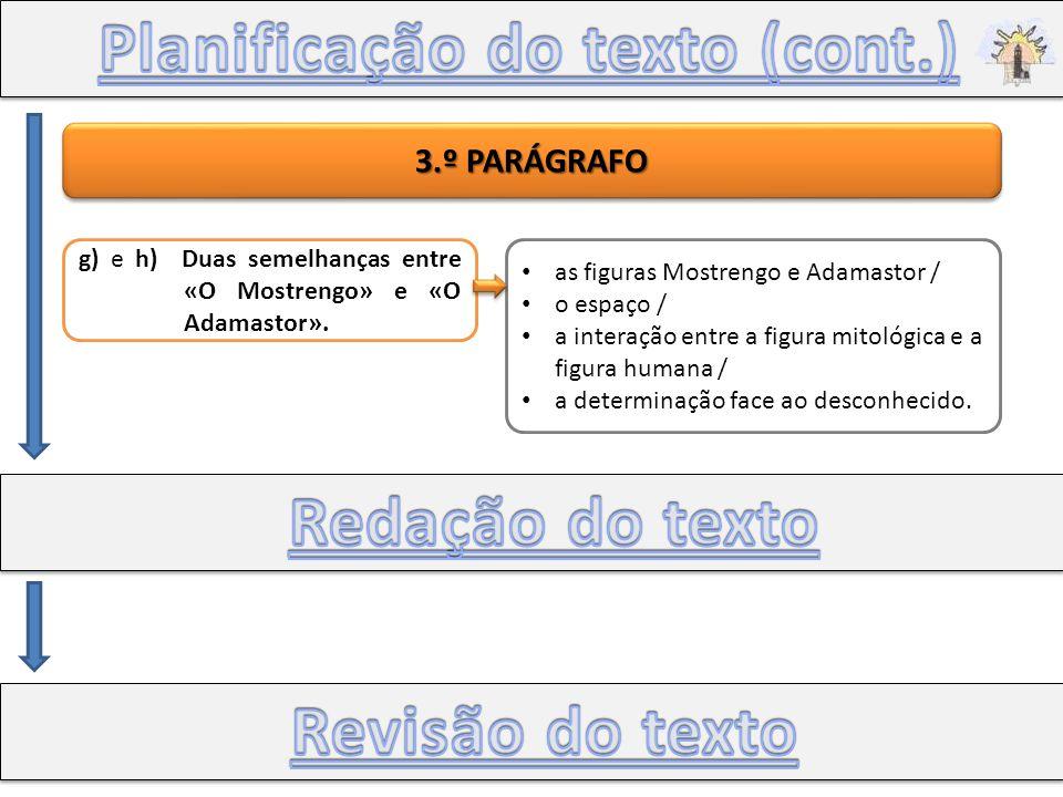 Planificação do texto (cont.)