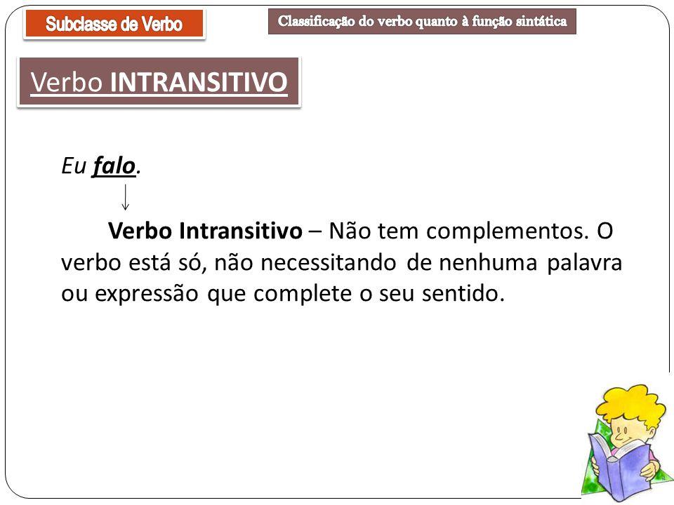 Classificação do verbo quanto à função sintática