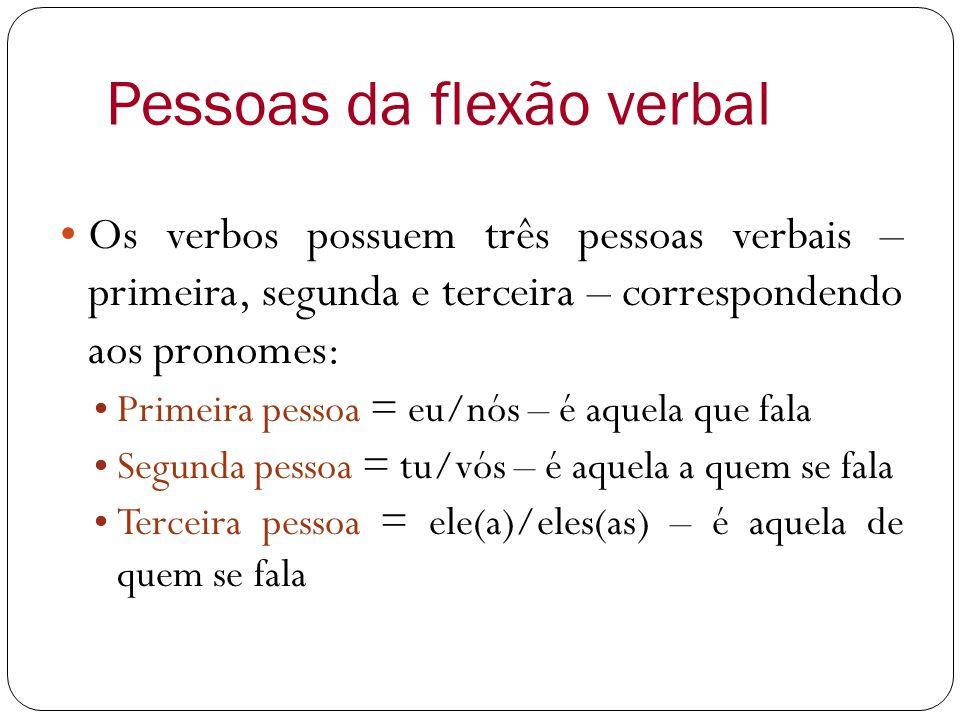 Pessoas da flexão verbal
