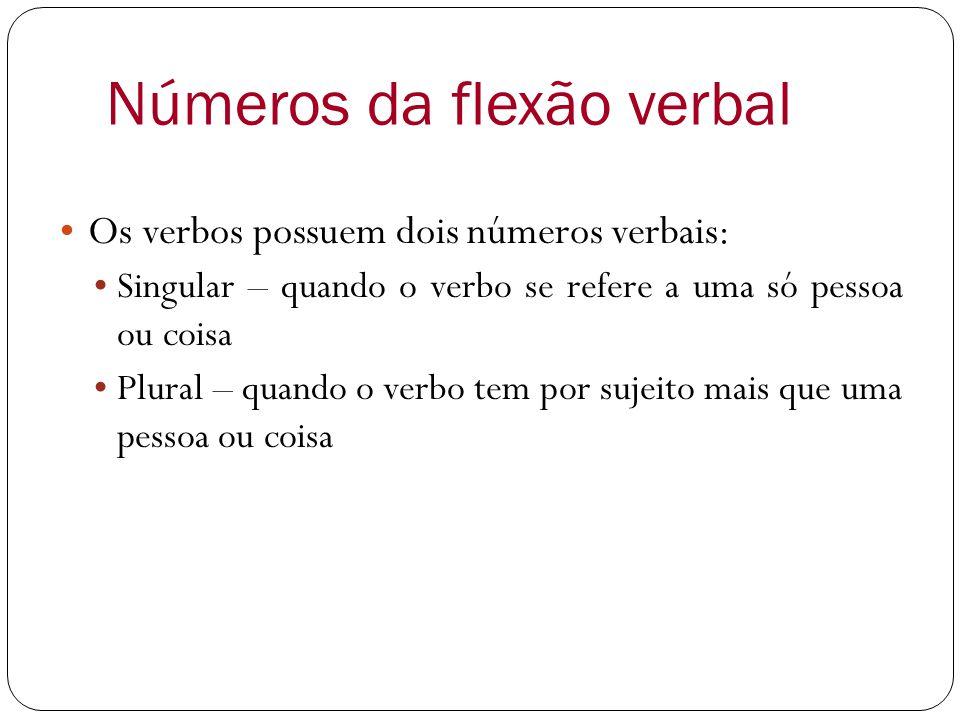 Números da flexão verbal