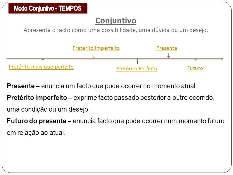 Modo Conjuntivo - TEMPOS