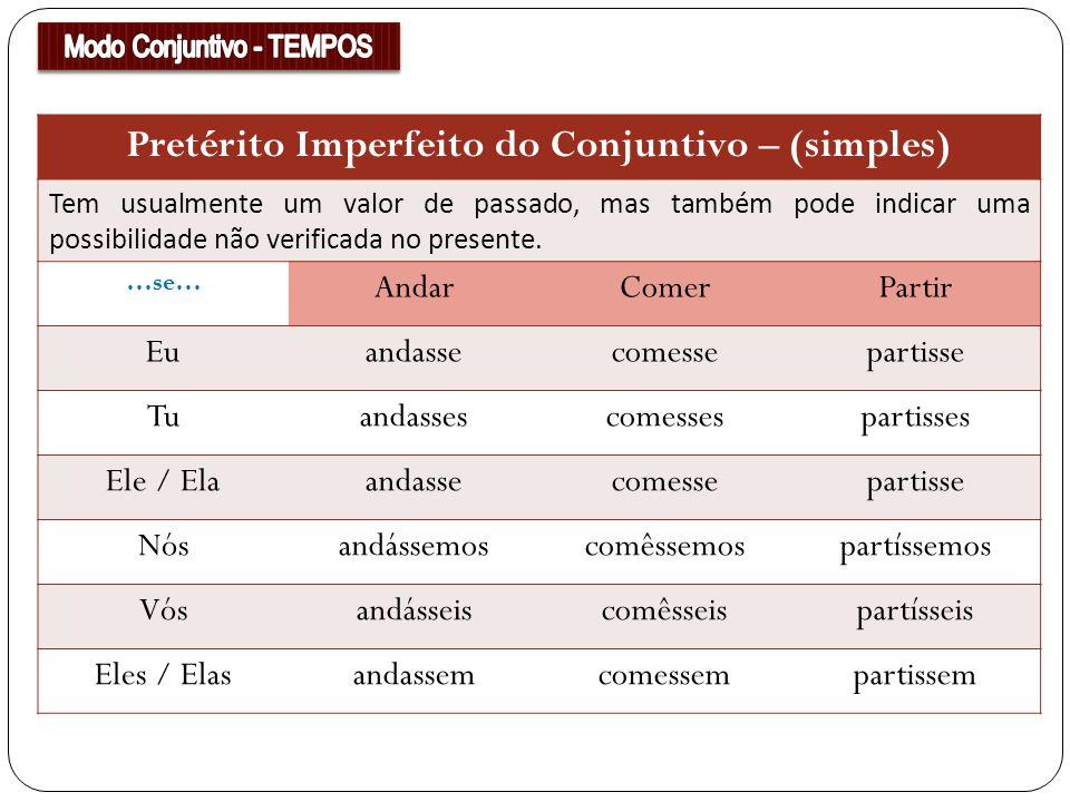 Pretérito Imperfeito do Conjuntivo – (simples)