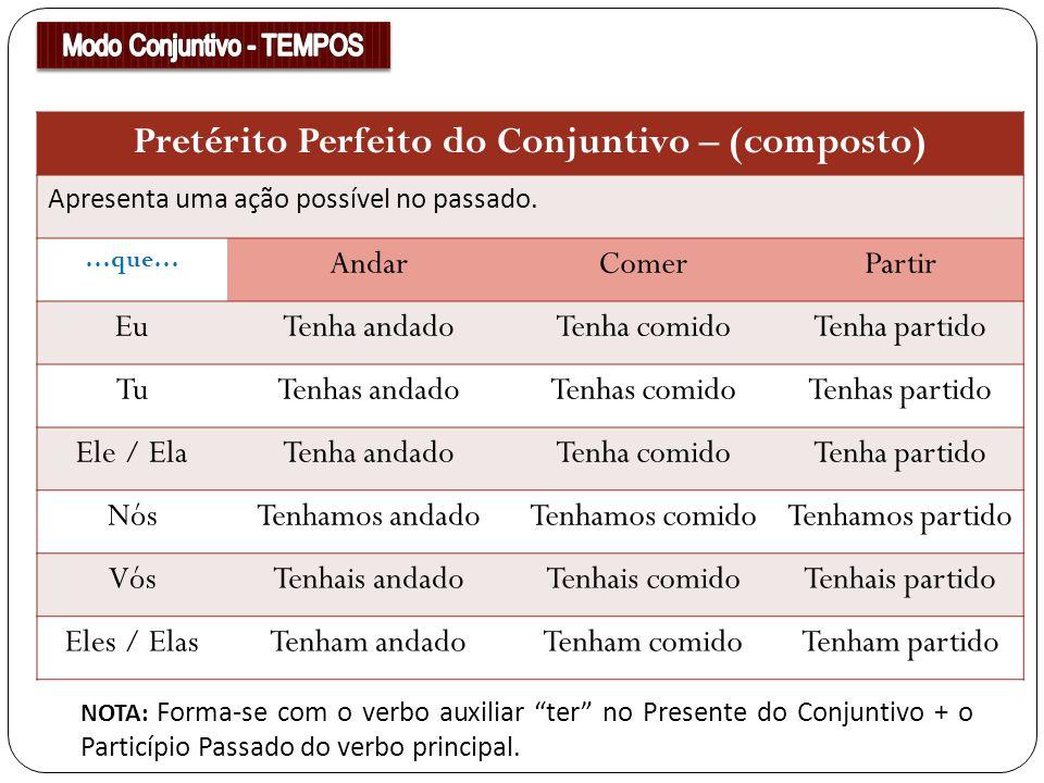 Pretérito Perfeito do Conjuntivo – (composto)