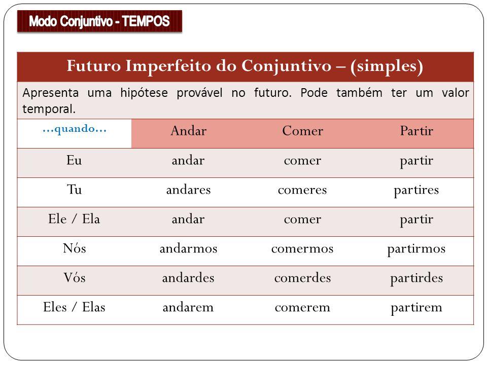 Futuro Imperfeito do Conjuntivo – (simples)